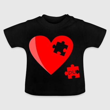 Heart Puzzle Missing Valentine's Day Gift - Baby T-Shirt