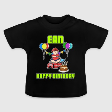 Birthday Firefighter Record Name Gift Birthd - Baby T-Shirt