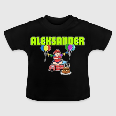Fire Department Aleksander gift - Baby T-Shirt