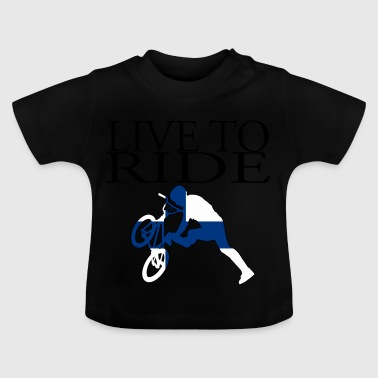 Geschenk Fahrrad Live to Ride Cycle Finnland - Baby T-Shirt