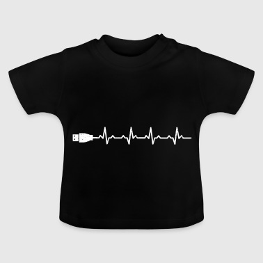 Heartbeats Funny Computer Geeks T-shirt - Baby T-Shirt