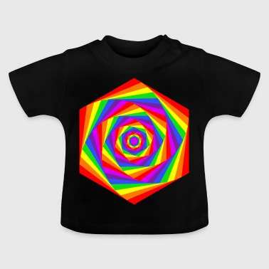 Rainbow Hexagon - Baby T-shirt