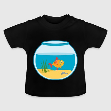 Goldfish Aquarium de Fishbowl - T-shirt Bébé
