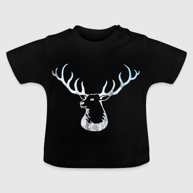 Deer Antler Shirt - Deer Deer Scandinavia Forest - Baby T-Shirt