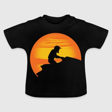 Jet ski driver in the sunset. - Baby T-Shirt