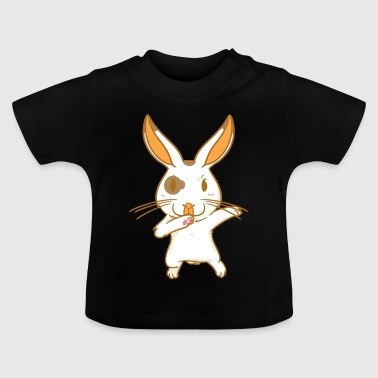 Rabbit - karate - fighting hare - dancing hare - Baby T-Shirt