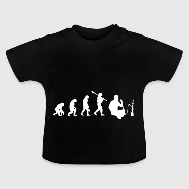 Evolution of Shisha Smoka Vape Gift Idea Grass - Baby T-Shirt