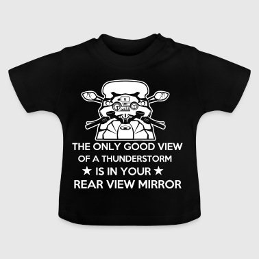Motorcycle Storm Rearview Mirror Biker Gift - Baby T-Shirt