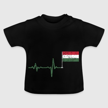 Heartbeat Ungarn Flag gave - Baby T-shirt