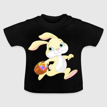 Easter bunny with basket - Baby T-Shirt