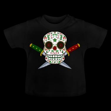 Mexikanska skalle och dolkar. Day of the Dead - Baby-T-shirt