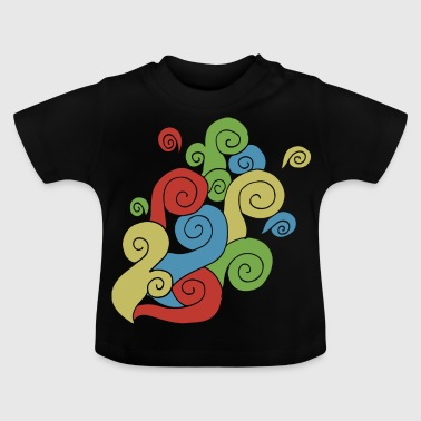 Bright Color Swirls - Baby T-shirt