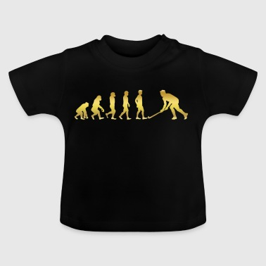 evolution human ekg heartbeat hockey eishockey - Baby T-Shirt