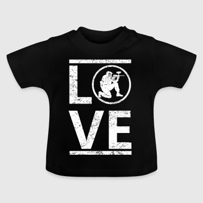 love liebe calling hobby king meister paintball - Baby T-Shirt