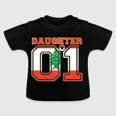 Daughter 01 daughter queen Lebanon - Baby T-Shirt