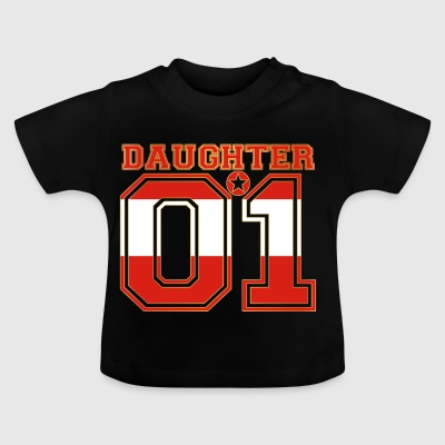 Daughter 01 tochter queen Oesterreich - Baby T-Shirt
