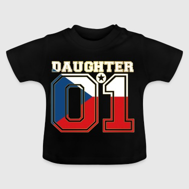 Daughter 01 tochter queen Tschechische Republik - Baby T-Shirt