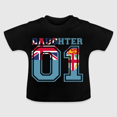 Daughter daughter queen 01 Fiji - Baby T-Shirt