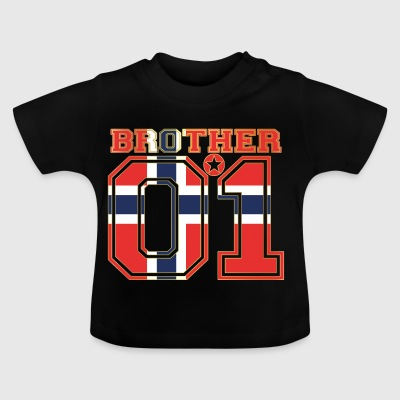 king bruder brother 01 partner Norwegen - Baby T-Shirt