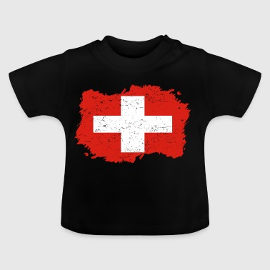 Roots roots flag home country Switzerland png - Baby T-Shirt