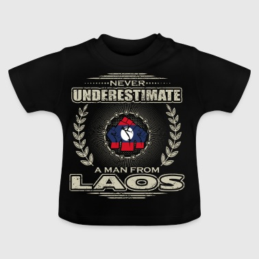 Never Underestimate Man LAOS png - Baby T-Shirt