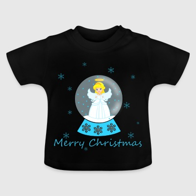 Snow globe angel Merry Christmas - Baby T-Shirt