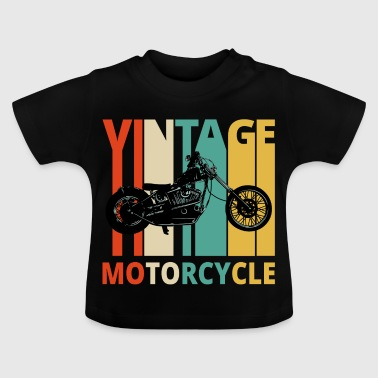 Vintage Motorcycle Gifts for the wild. Dad,grandad - Baby T-Shirt