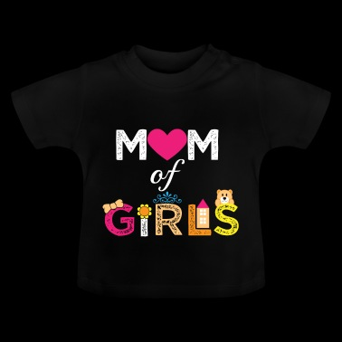 Mother's Day Girl Twins moeder van meisjes dochters - Baby T-shirt