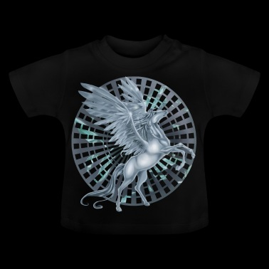 Pegasus with Wheel background - Baby-T-shirt