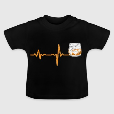 Heartbeat whisky gave - Baby T-shirt