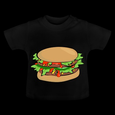 bbq barbecue barbecue burger beef bacon steak spare - Baby T-Shirt