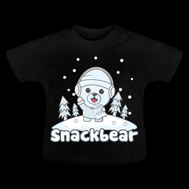 Snack bear / snack bear in the snow - Baby T-Shirt