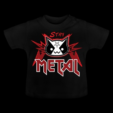 Metal Cat - Blijf Metal (Red Edition) - Baby T-shirt