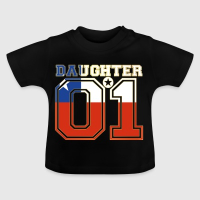 Dotter 01 dotter drottning Chile - Baby-T-shirt