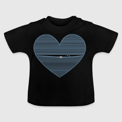 Guarda_col_cuore - Baby T-Shirt
