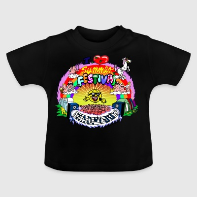 I LOVE summer festival madness - Baby T-Shirt