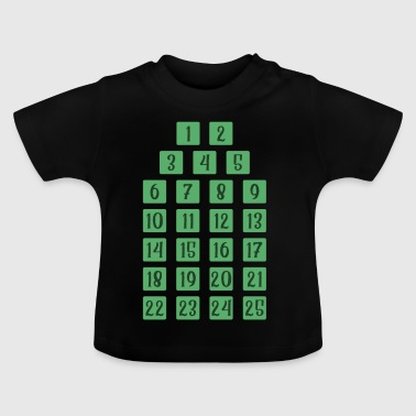 Advent 25 Calendar Christmas Countdown Christian - Baby T-Shirt