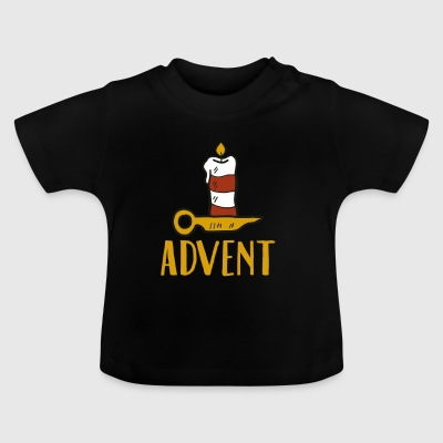Advent One Candle Christmas Season Countdown Cool - Baby-T-skjorte