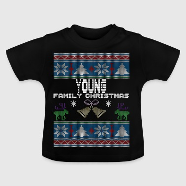 Ugly Young Christmas Family Vacation Tshirt - Baby T-Shirt