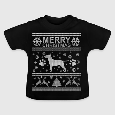 Ugly Christmas Sweater Bullterrier - Baby T-Shirt