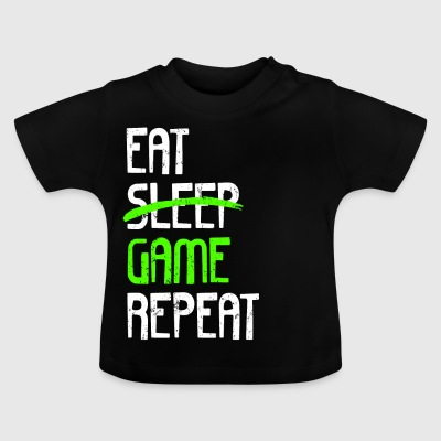 EAT SLEEP GAME GJENTA - Baby-T-skjorte