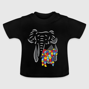 Autism Elephant: World Auto Day 02 April 2018 - Baby T-Shirt
