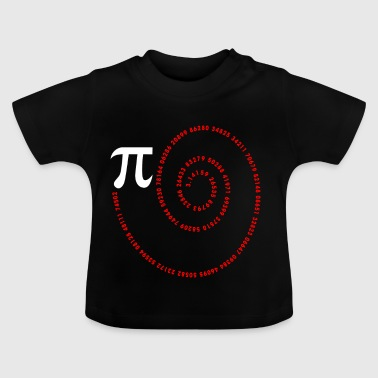 Spiraal Pi Science Geek Math Symbool Grappige Pi-dag - Baby T-shirt