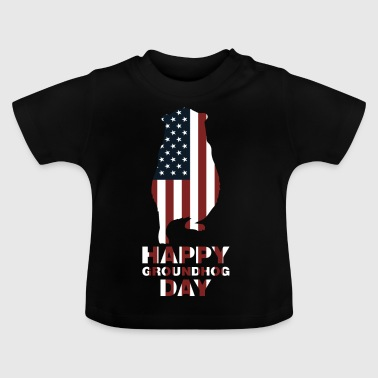 Happy Groundhog Day USA Vlag viering traditie - Baby T-shirt