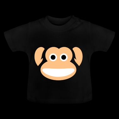 Cute Monkey Whole Face Ape Animal Primate Lover - Maglietta per neonato