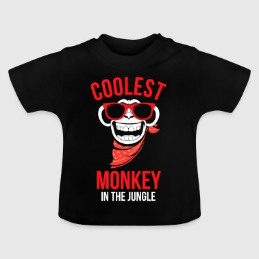 Coolest aap in de jungle Gift Ontwerp van de aap - Baby T-shirt