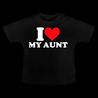 I Love my Aunt Tante - Baby-T-shirt