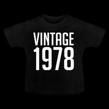 Vintage 1978 40th Birthday | 40 Years Years Old 40 - Camiseta bebé