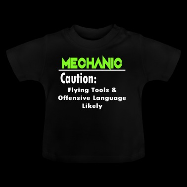 Mechanic Caution Flying Tools Gift - Baby T-Shirt