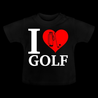 I Love Golf - Baby-T-skjorte
